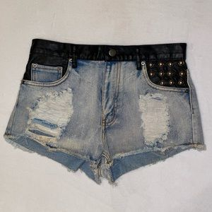 FOREVER 21 • Leather Studded Shorts